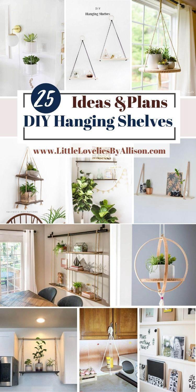 25 DIY Hanging Shelves_ How To Make A Rope Shelf