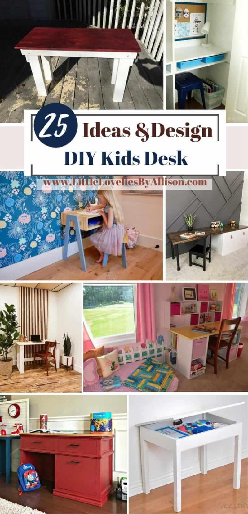 25 DIY Kids Desk_ How To Make A Kids Desk
