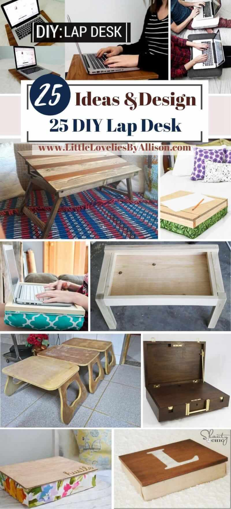 25 DIY Lap Desk Ideas_ Do It Yourself Easily