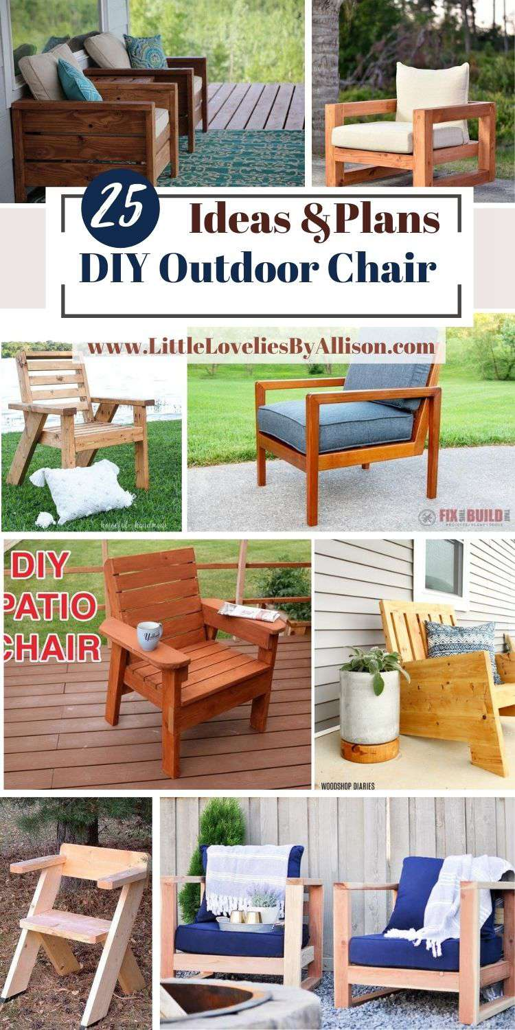 25 DIY Outdoor Chair Plans_ Do It Yourself Easily