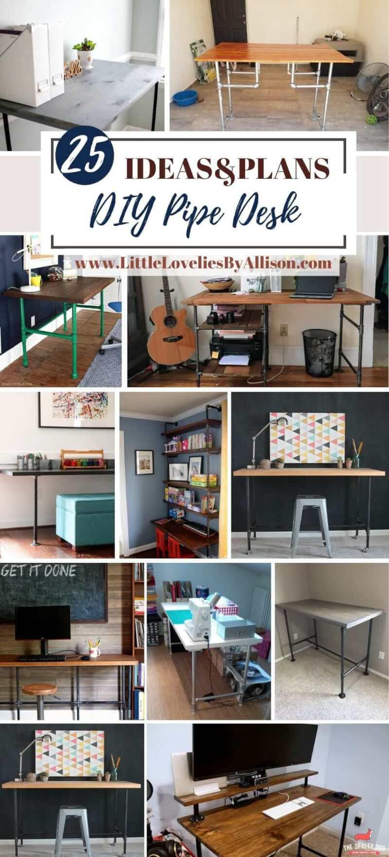 25 DIY Pipe Desk Ideas_ How To Build A Pipe Desk