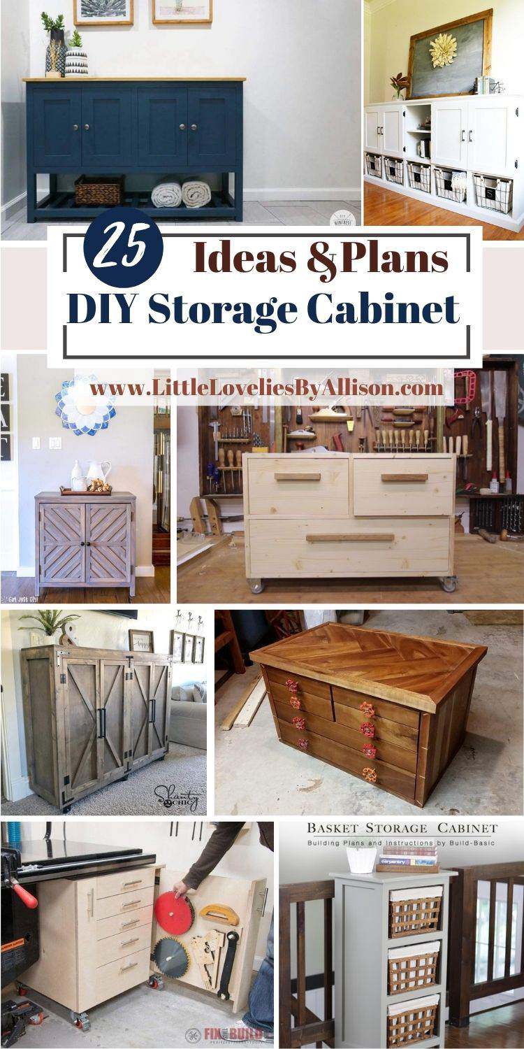 25 DIY Storage Cabinet Projects_ Do It Yourself Easily