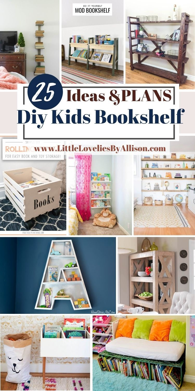 25 Simple DIY Kids Bookshelf Plans You Can Diy Easily