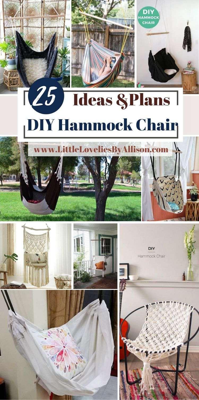 25 Ways To Build A DIY Hammock Chair Easily