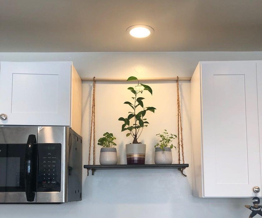 25. DIY Hanging Kitchen Shelf