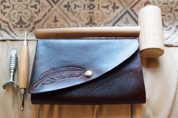 25. DIY Leather Tablet Case