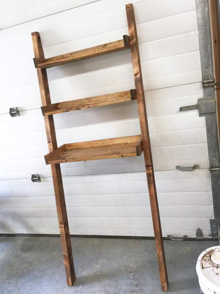 25. DIY Over The Toilet Storage