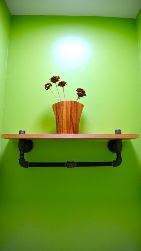 26. DIY Bathroom Shelf