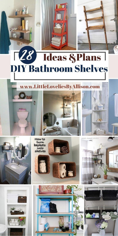 28 DIY Bathroom Shelves_ Classic, Modern _ Rustic Shelves