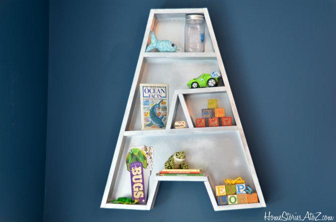 3. Alphabetic Wall Shelf