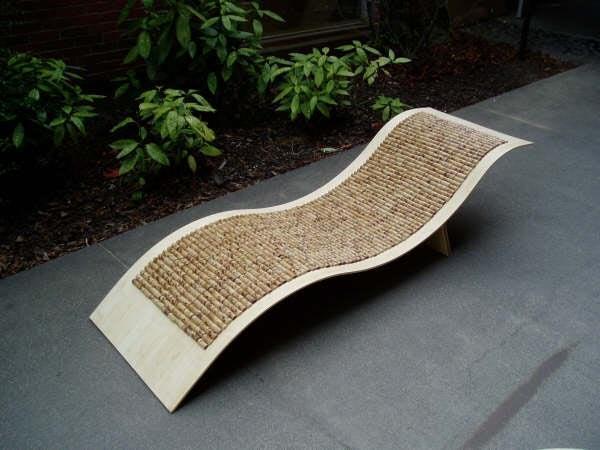 3. Bamboo Chaise Lounge Chair DIY