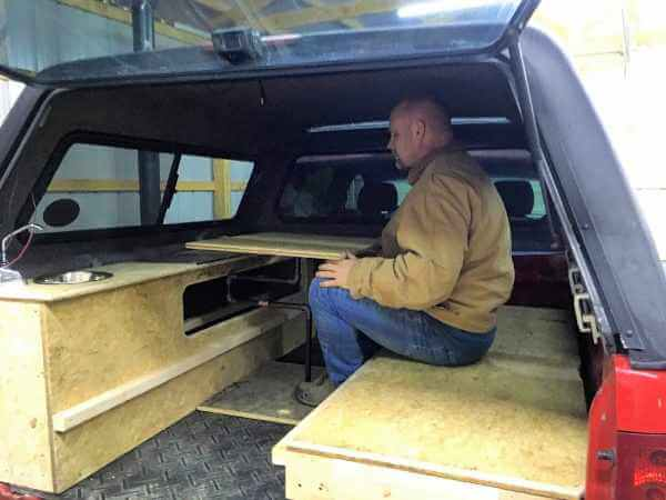 3. Building a homemade truck camper in a weekend