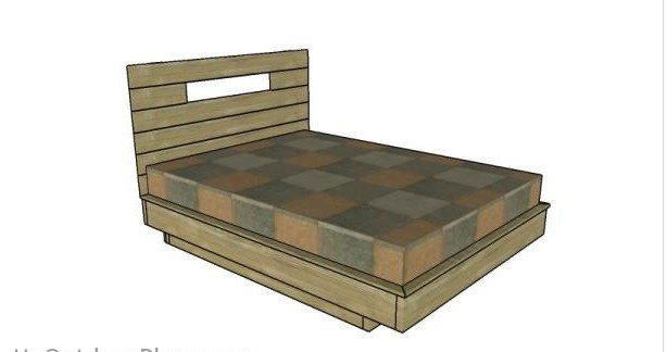 3. DIY Floating Bed Frame Plans