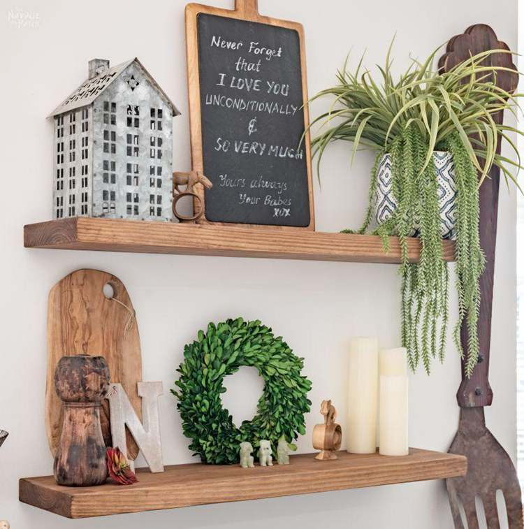 3. DIY Floating Shelves For Decor