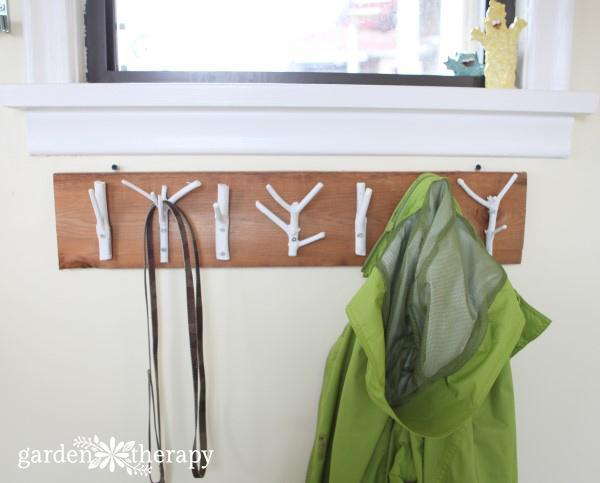 3. DIY Natural Branch Coat Rack