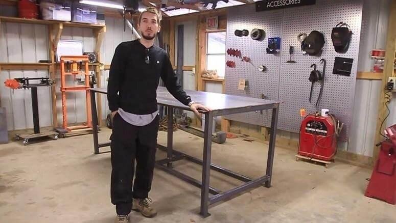 3. DIY Welding Table Plans
