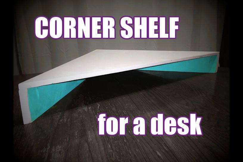 3. Dollar Tree Corner Shelf DIY