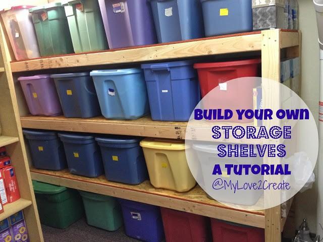 3. How To Build Storage Shelves
