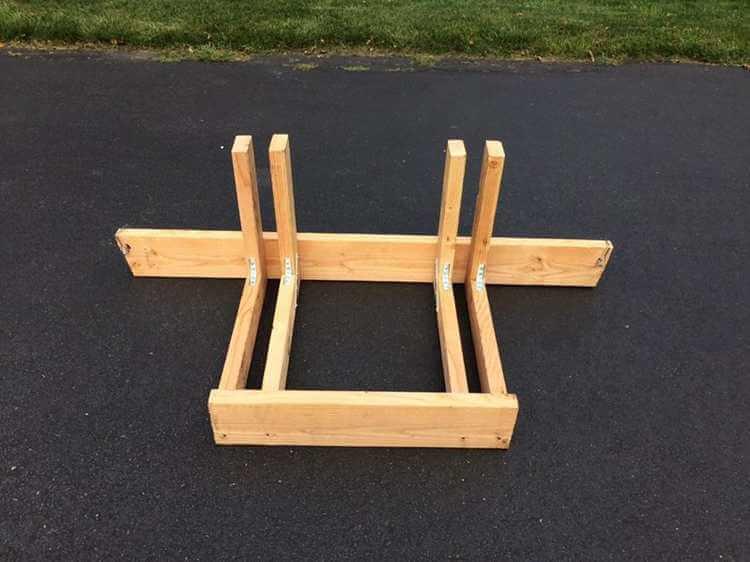 3. L shaped wood alternative
