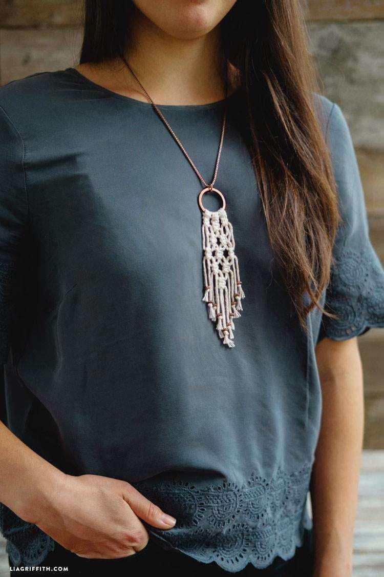 37. DIY Macrame Necklace