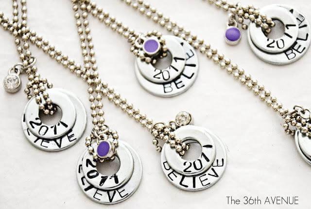 39. DIY Stamped Washer Necklace