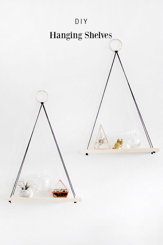 4. DIY Hanging Shelves