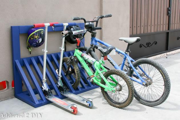 4. DIY Kids Bicycle Rack