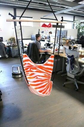 4. DIY Office Hammock Chair