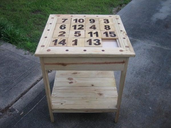 4. DIY Puzzle Table