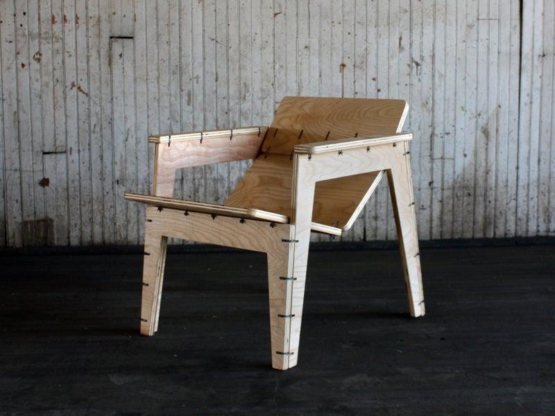 4. DIY Zip Tie Lounge Chair