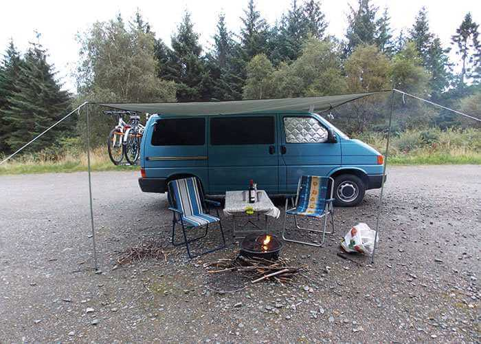 4. DIY awning for your van