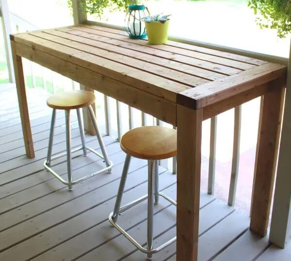 4. How To Build An Outdoor Bar Table