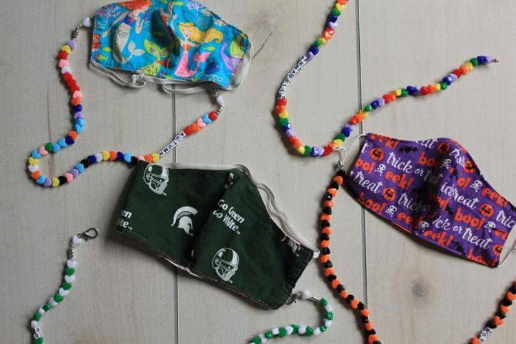 40. DIY Interchangeable Mask Necklace