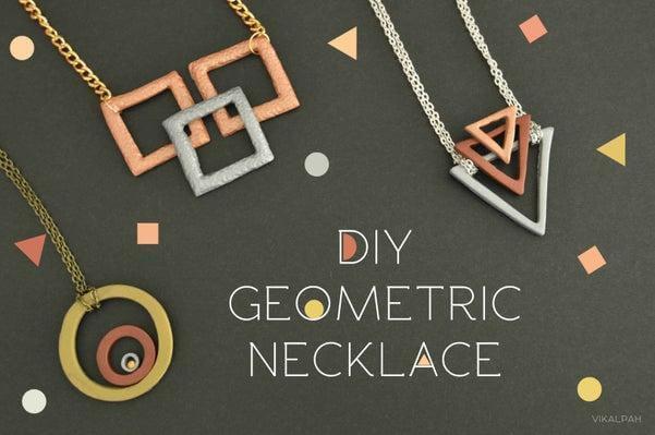 46. DIY Geometric Necklace