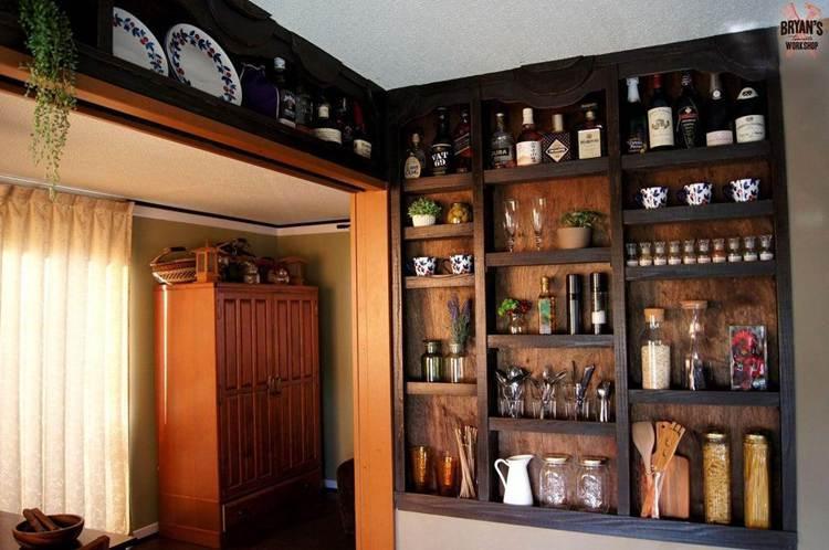5. DIY Built In Kitchen Shelves