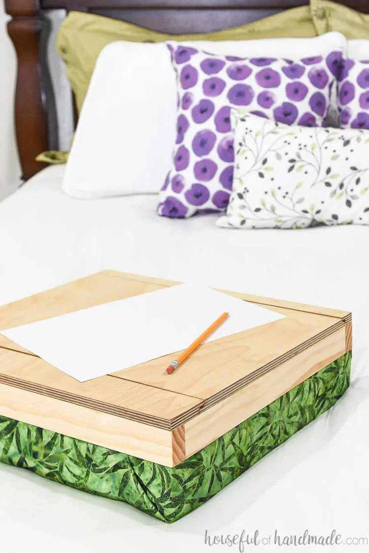 5. DIY Easy Lap Desk With Storage