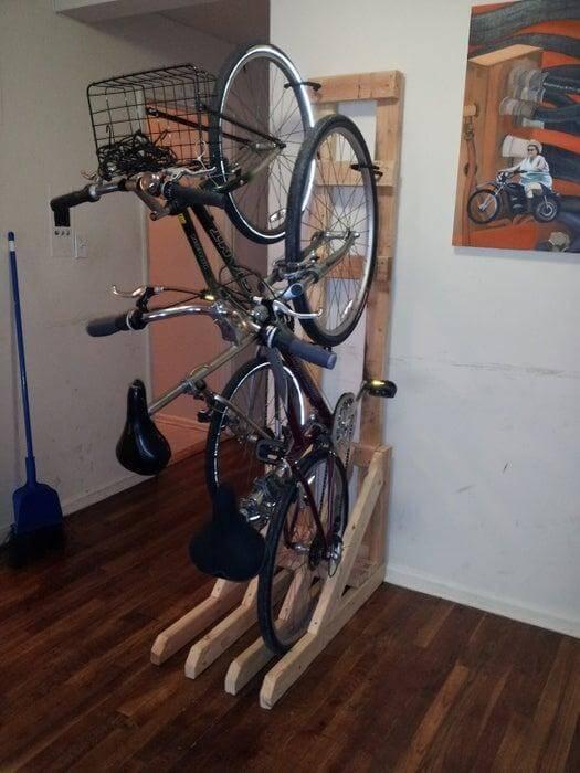 5. DIY Free Standing Bike Rack