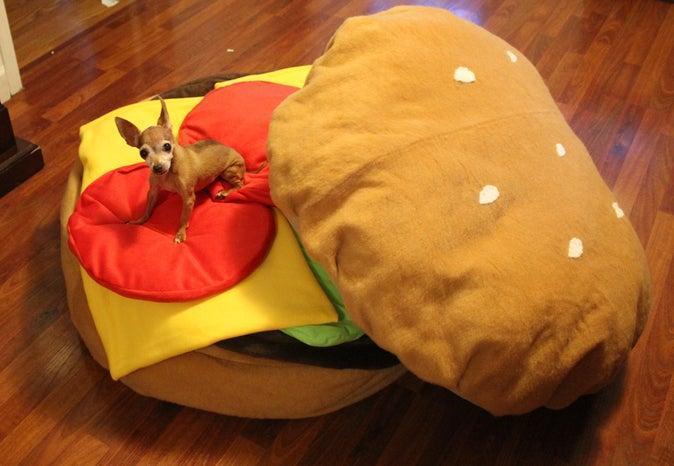 5. DIY Hamburger Bean Bag