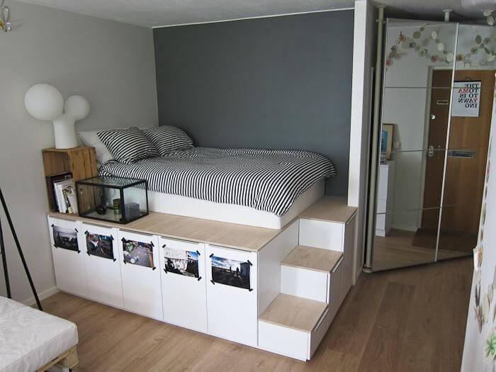 5. DIY Storage Platform Bed