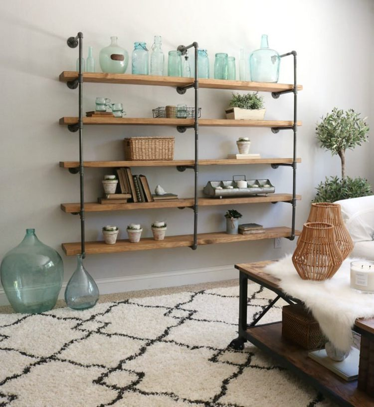 5. How To Build DIY Industrial Pipe Shelves