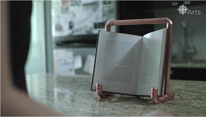 5. Simple Pipe Book Stand