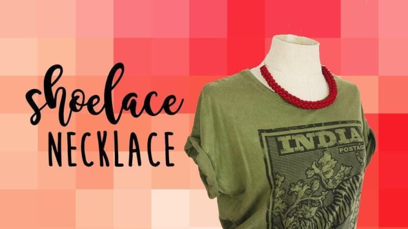 53. DIY Shoelace Necklace