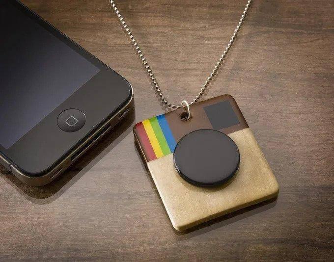 54. DIY Instagram Necklace