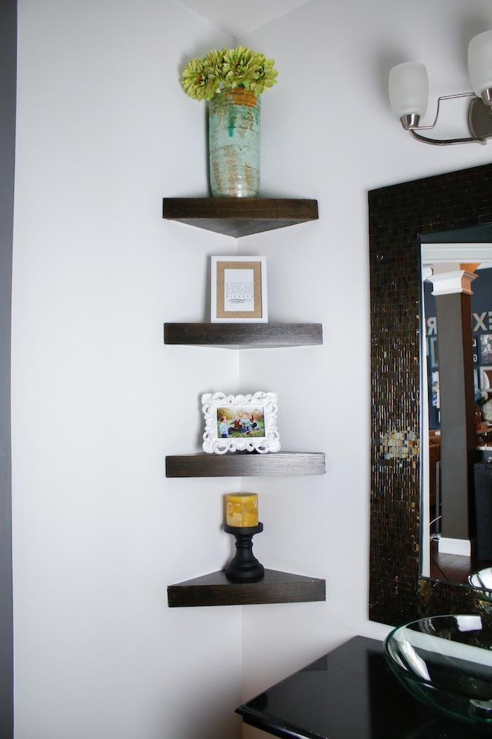 6. DIY Corner Shelf Idea