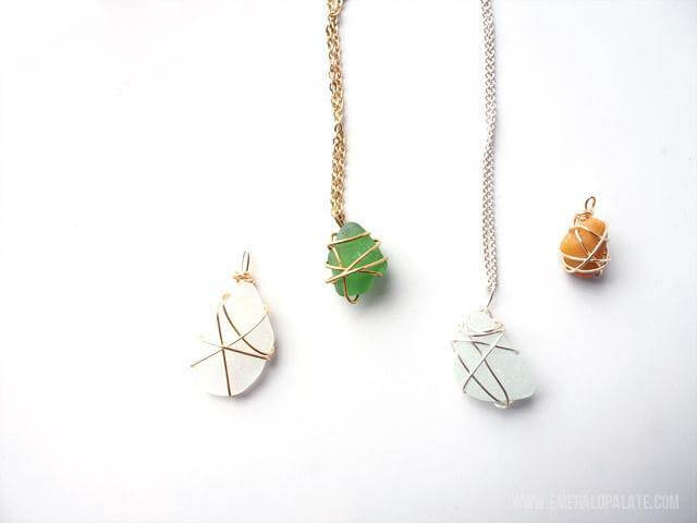 6. DIY Necklace With Stones