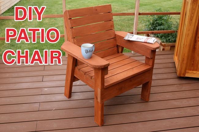6. DIY Patio Chair Plans