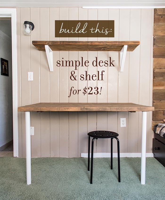 6. DIY Simple Wall Desk