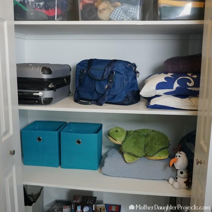 6. DIY Small Closet Shelving