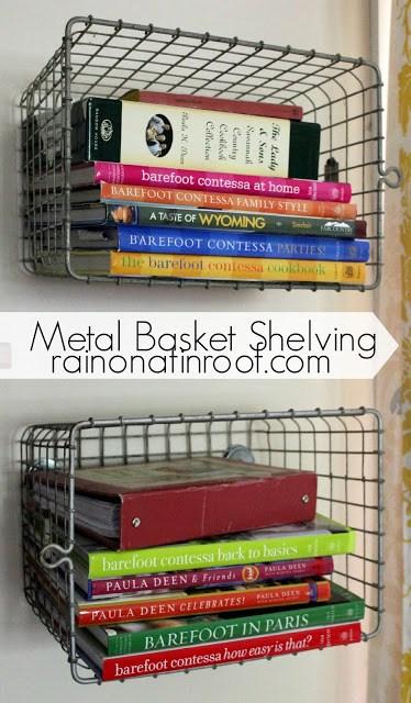 6. Hanging Metal Basket