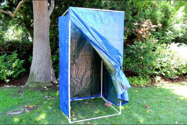 6. Making a homemade camp shower